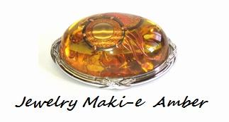 Jewelry Amber Maki-e Makie