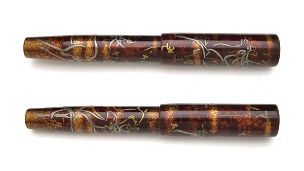 AGJ Maki-e Fountain Pen Deer in the fall flowers03