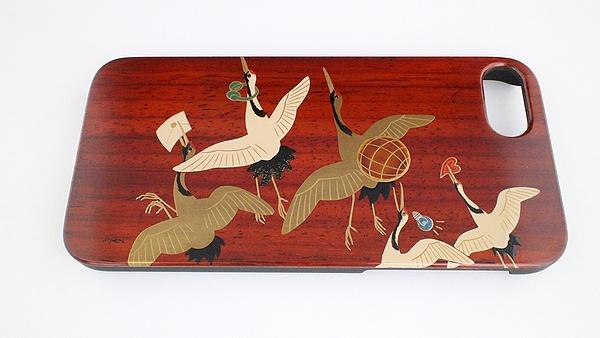 AGJ Maki-e iPhone Case Cranes01