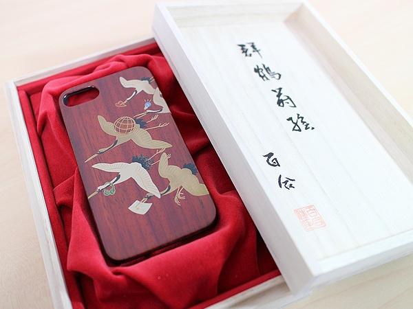 AGJ Maki-e iPhone Case Cranes10