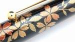 "Photo5: AGJ Original Maki-e Fountain pen #58 ""Cherry Blossom at Night"" Sparkling Togidashi Taka Maki-e Kyoto Japan Wa (5)"