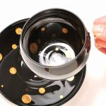 "Photo3: AGJ Glass urushi Cup and Saucer 2set ""Balloon"" Gold (3)"