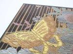 "Photo4: AGJ Original Kimono-Glass Dish / Plate ""Butterfly"" Nishijin Yuzen Kyoto (4)"