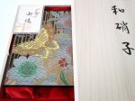 "Photo7: AGJ Original Kimono-Glass Dish / Plate ""Butterfly"" Nishijin Yuzen Kyoto (7)"