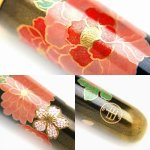 "Photo3: AGJ Original Maki-e Makeup brush ""Peony"" 5 pcs Brush Set Togidashi Taka Maki-e (3)"