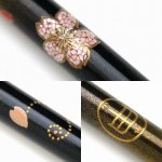 "Photo11: AGJ Original Maki-e Makeup brush ""Peony"" 5 pcs Brush Set Togidashi Taka Maki-e (11)"