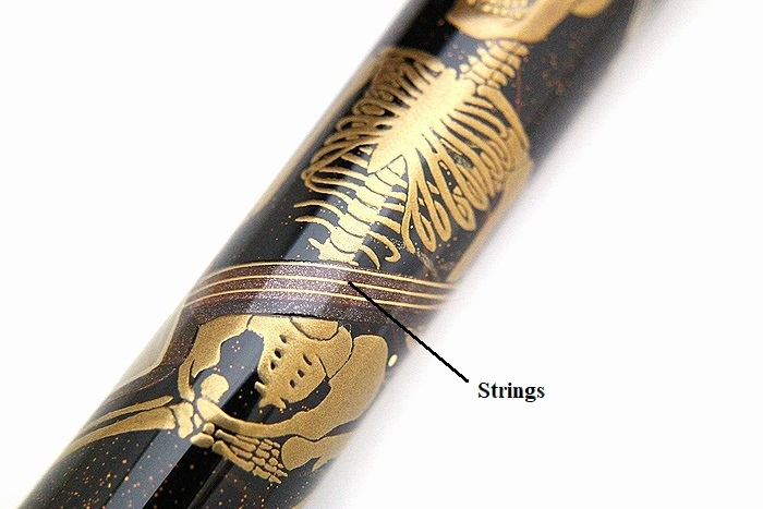 AGJ Maki-e Fountain Pen Skeltons' Dance in summer festival12