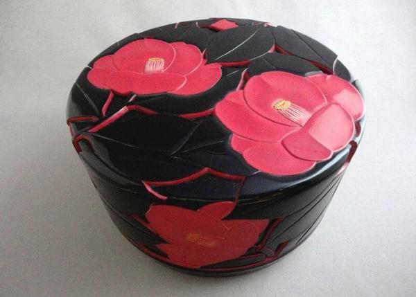 "Photo1: Choshitsu (Carved Lacquer) ""Shinzan Shinku"" Japanese traditional techniques (1)"