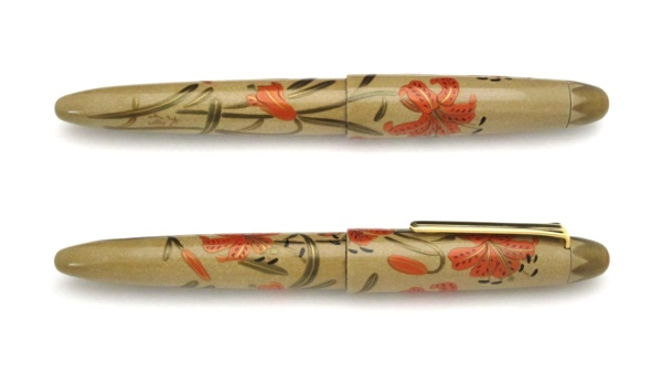 AGJ Maki-e Fountain Pen Tiger lily02