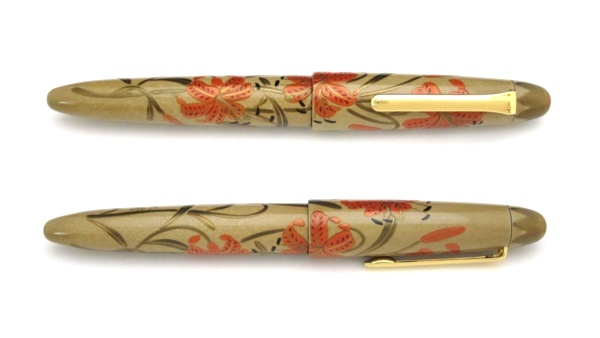AGJ Maki-e Fountain Pen Tiger lily03