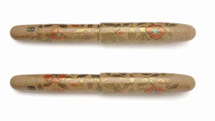 AGJ Maki-e Fountain Pen Camellia2
