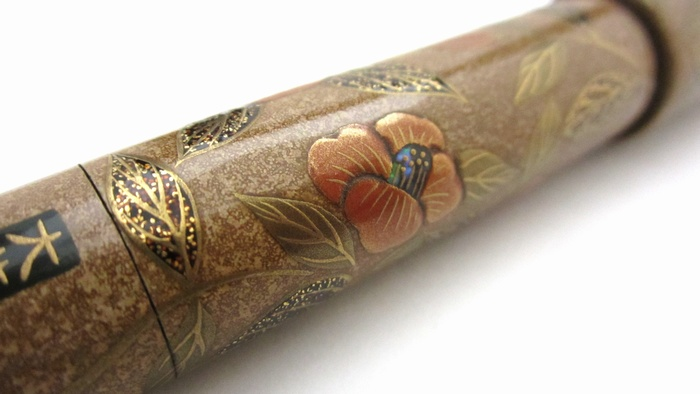 AGJ Maki-e Fountain Pen Camellia7