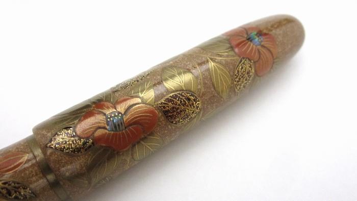 AGJ Maki-e Fountain Pen Camellia10