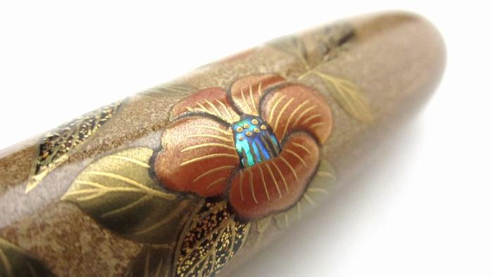 AGJ Maki-e Fountain Pen Camellia12