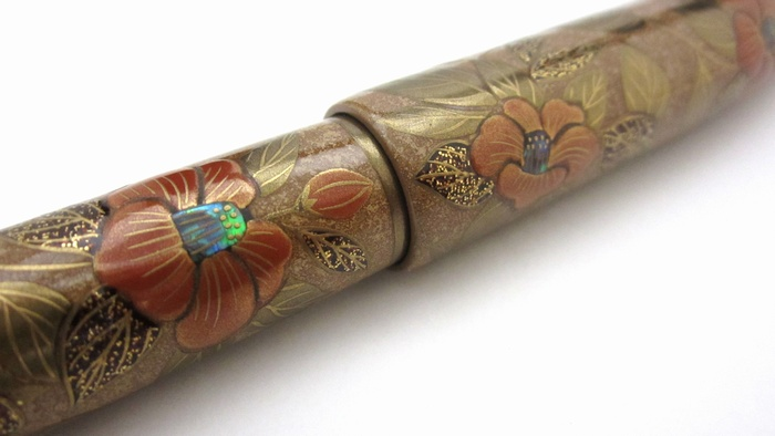 AGJ Maki-e Fountain Pen Camellia13
