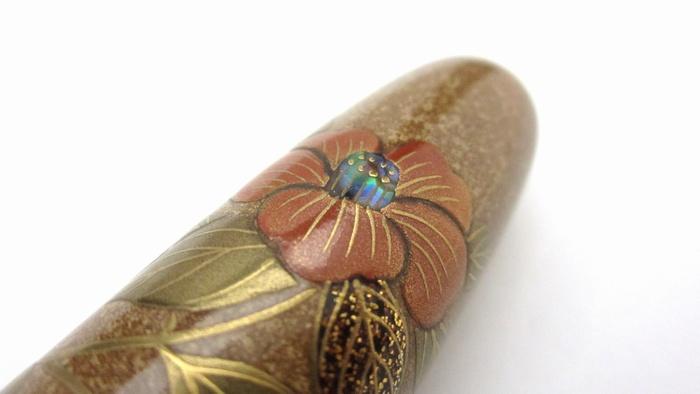 AGJ Maki-e Fountain Pen Camellia15