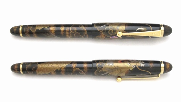 AGJ Maki-e Fountain Pen Mt. Fuji and Rising Dragon03