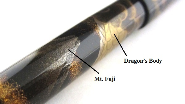 AGJ Maki-e Fountain Pen Mt. Fuji and Rising Dragon11