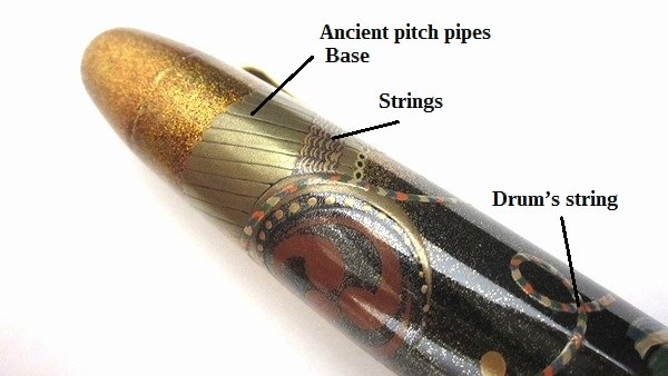AGJ Maki-e Fountain Pen Court Musical Instrument06
