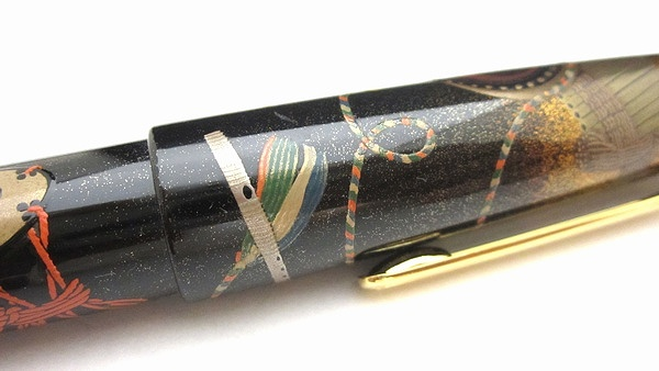 AGJ Maki-e Fountain Pen Court Musical Instrument08