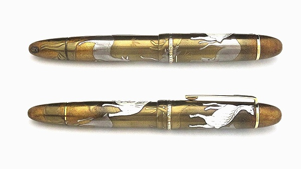 AGJ Maki-e Fountain Pen deer makie02