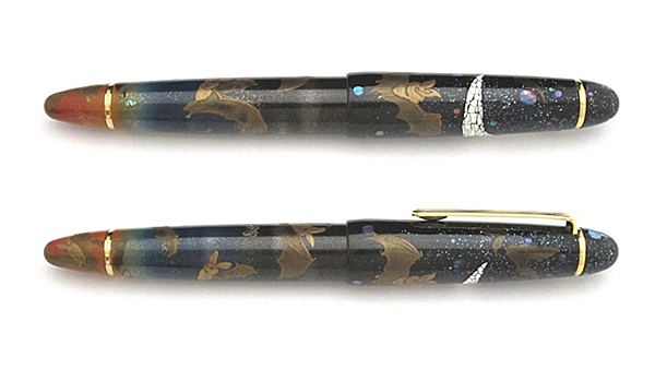 AGJ Maki-e Fountain Pen Biosterous dance of Bats at sunset02