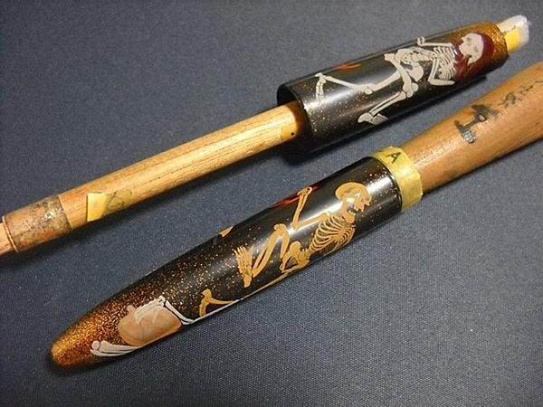 AGJ Maki-e Fountain Pen How to do Skeletons8a