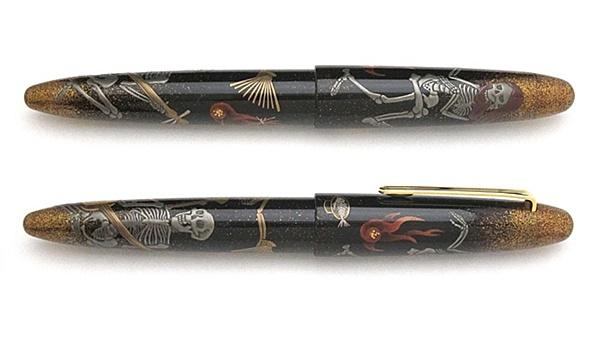 AGJ Maki-e Fountain Pen Party for Skeletons02