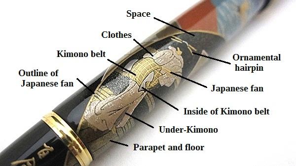 AGJ Maki-e Fountain Pen Hokusai Fuji12