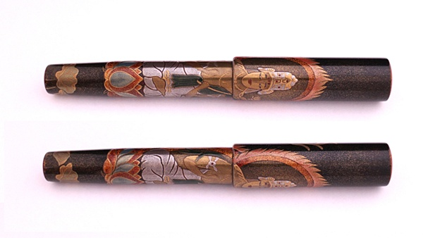 AGJ Maki-e Fountain Pen Buddhist statue02