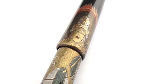 AGJ Maki-e Fountain Pen Buddhist statue08