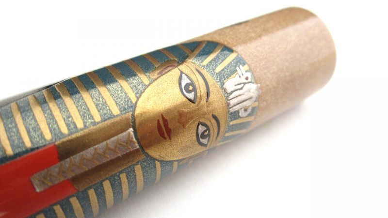 "Photo1: AGJ Original Maki-e Fountain pen #39 ""Tutankhamun"" Sailor King of Pen Sparkling Togidashi Taka Maki-e Kyoto Japan Wa (1)"