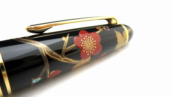 AGJ Maki-e Fountain Pen Apricot tree and Warbler07
