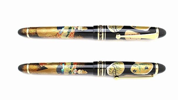AGJ Maki-e Fountain Pen Hinamatsuri Doll Festival03