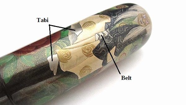 AGJ Maki-e Fountain Pen Shakkyo Stone Bridge06