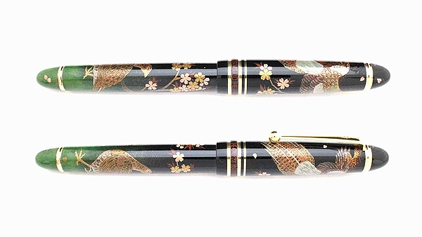 AGJ Maki-e Fountain Pen Japanese Pheasant Cherry Blossom02