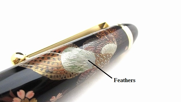 AGJ Maki-e Fountain Pen Japanese Pheasant Cherry Blossom05