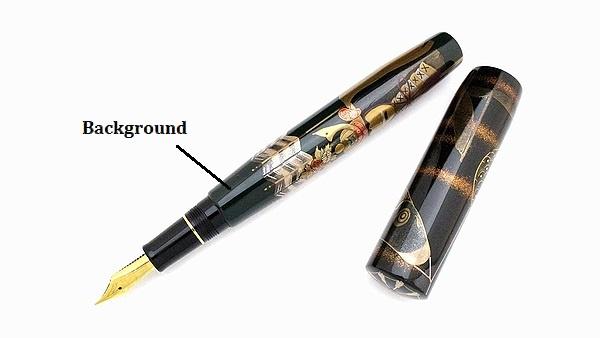 AGJ Maki-e Fountain Pen kabuto01