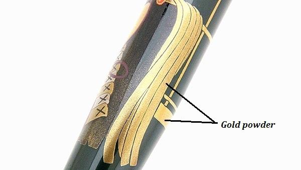 AGJ Maki-e Fountain Pen kabuto12