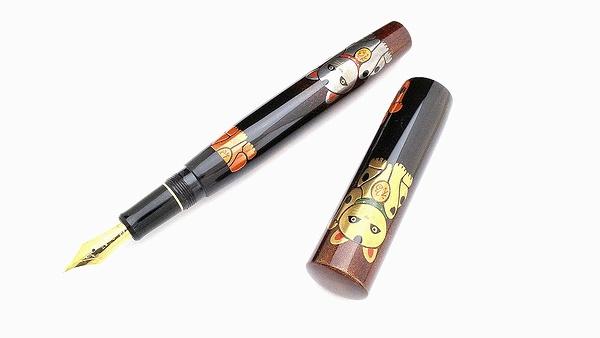AGJ Maki-e Fountain Pen Manekineko01