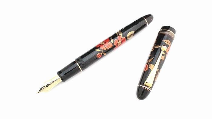 AGJ Maki-e Fountain Pen Camellia01