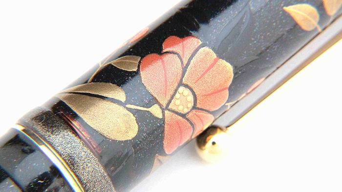 AGJ Maki-e Fountain Pen Camellia05