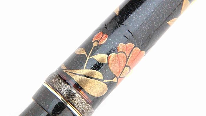 AGJ Maki-e Fountain Pen Camellia06