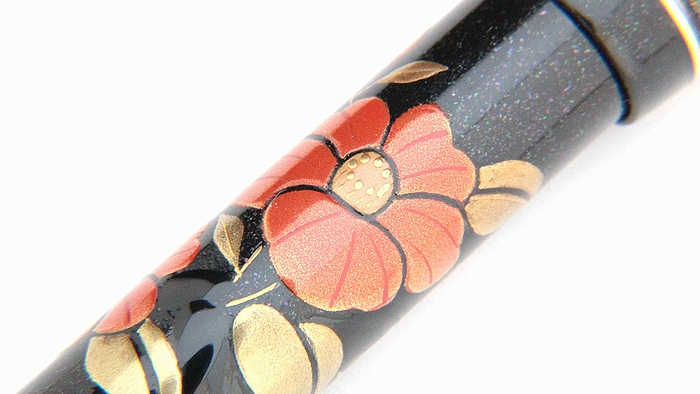 AGJ Maki-e Fountain Pen Camellia07