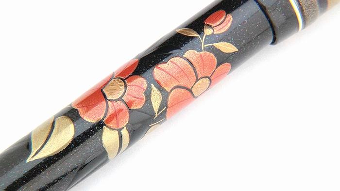 AGJ Maki-e Fountain Pen Camellia08