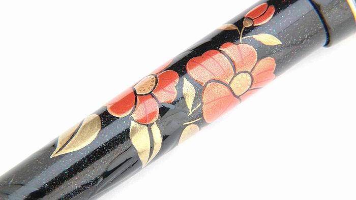 AGJ Maki-e Fountain Pen Camellia09