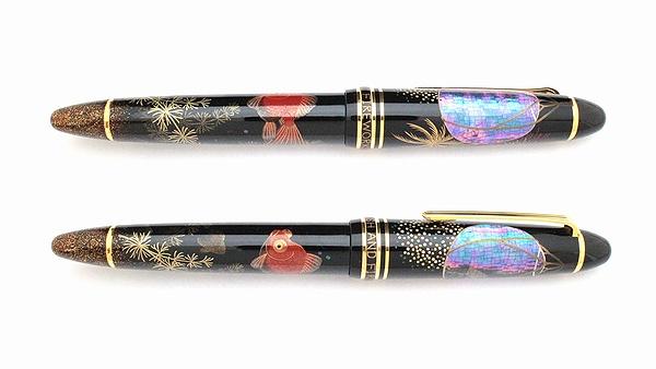 AGJ Maki-e Fountain Pen Goldfish and Fireworks02
