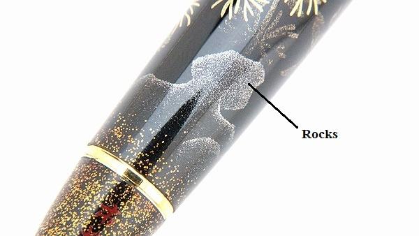 AGJ Maki-e Fountain Pen Goldfish and Fireworks13