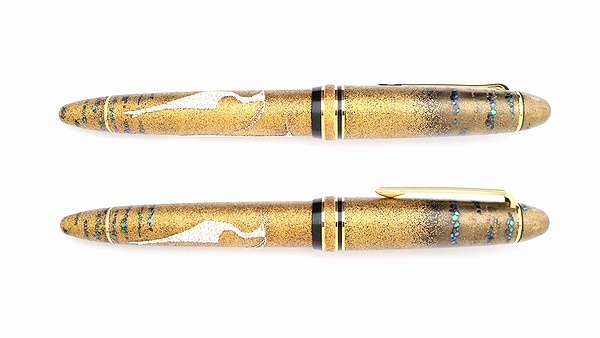 AGJ Maki-e Fountain Pen Heron02