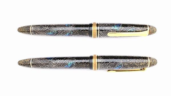 AGJ Maki-e Fountain Pen Peacock03